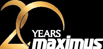 Maximus 20 vuotta -logo